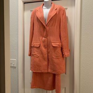 Salmon lined dress suit 2 pc